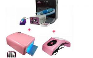 Set Kit Lampa UV 36W + Freza Electrica 25000 RPM + Aspirator manichiura, la 299 RON in loc de 599 RON
