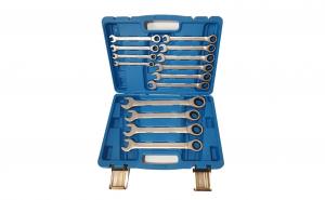 Trusa de chei fixe si inelare, 14 piese, 8-24mm