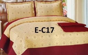 Cuvertura de pat Luxury + 2 fete de perna din bumbac brodat