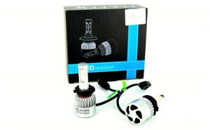 Set becuri H4 2 faze cu LED S2 chip led Korea Putere: 40W - 4800 lumen 6000k Voltaj: 12-24V