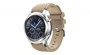 Curea Silicon Premium MTP Coffe 22mm Quick Release, pentru Samsung Galaxy Watch 46 mm