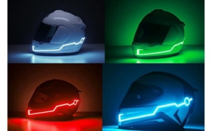 Kit lumini banda LED casca set 2 bucati cu telecomanda - lumina albastra