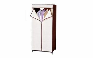Organizator textil (dulap) portabil pentru haine cu husa de protectie