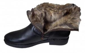 Cizme inalte din piele naturala, imblanite, confortabile si elegante, ideale pentru sezonul rece, la 179 RON in loc de 390 RON. Cu ele nu vei simti frigul anuntat de meteorologi!