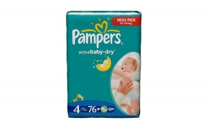 Scutece PAMPERS GIANT PACK 4 ACTIVE, Baby`s Day