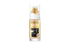 Fond de ten, Eveline Cosmetics, High Quality, Ideal Cover FULL HD 16h, SPF 10, 203 Natural, 30 ml