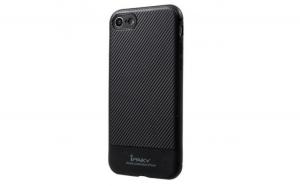 Husa Apple iPhone 7 IPAKY Carbon Fiber Negru