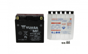 Baterie moto AGM fara intretinere YUASA 12V 12Ah 210A L+ 150x70x145 Incarcare uscata cu acid