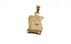 Pandantiv Zodia Sagetator din aur galben
