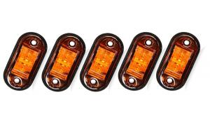 Set 5 lampi led galbene 12v-24v