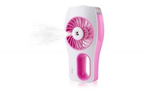 Mini ventilator cu pulverizare apa, acumulator reincarcabil USB, Roz