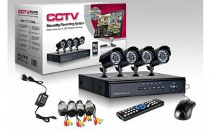 Sistem de camere CCTV 4 Camere foto + DVR pentru internet si telefon