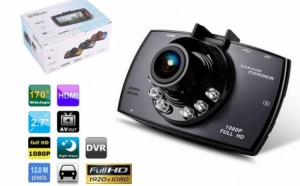 Camera video auto, 12 megapixeli FullHD, cu nightvision + CARD 16 GB CADOU, la doar 245 RON in loc de 598 RON