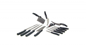 Set de 13 Cutite pentru bucatarie, otel inoxidabil, manere nituite AMP-MBLD01