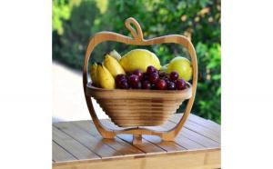 Cos pliabil din lemn, pentru fructe si legume