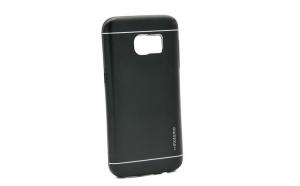 Husa Samsung Galaxy S6 Edge Motomo V2 Negru