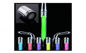 Cap de robinet cu LED multicolor si filtru