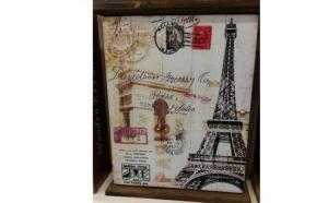 Cutie pentru chei cu motiv parizian