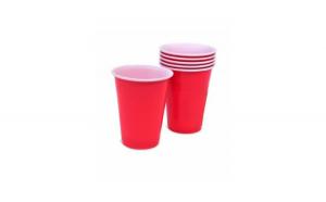 Pahare din plastic roșu 270 ml - 10 buc JstJ