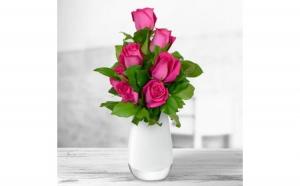 Buchet de 7 trandafiri roz, Dragobete, Ea