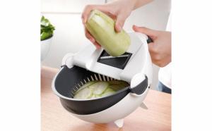 Feliator manual de legume si strecurator 2in1 cu accesorii