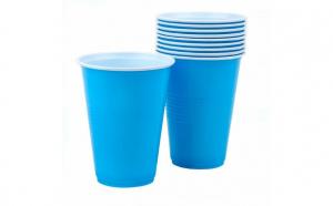 Set 10 pahare plastic albastre 480 ml Js