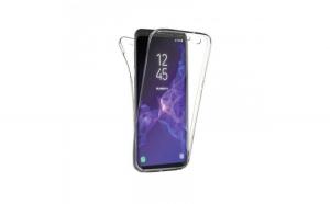Husa slicon 360 fata+spate Samsung J6 Plus, Transparent