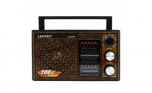 Radio Leotec LT-2016, cu 11 benzi radio, alimentare 220v si baterii
