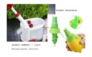 Aparat de scos samburi + pulverizator citrice cadou