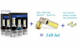 Kit lumini auto format din Becuri LED