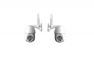 Set 2 Camere Wi-fi PTZ CCTV IP