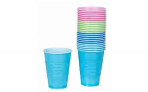 Pahare din plastic Diverse culori 280 ml