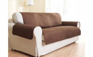 Set Husa de protectie canapea + 2x Huse fotolii + Cadou Perie pentru par si scame