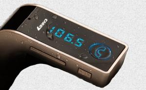 Modulator FM Hands Free Buletooth-A2DP G7, Rose Gold