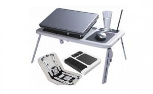Masuta laptop E-Table cu  2 coolere + suport pahar + mousepad