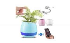Ghiveci inteligent cu boxa, senzor de sunet tactil, lumini si functie Bluetooth
