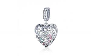 Talisman din argint 925 Heart Shape Pendant