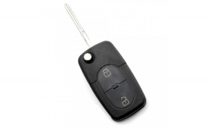 Audi - Carcasă cheie tip briceag, 2 butoane, tip mare, fără buton panică,