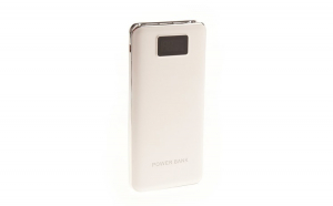 Acumulator Extern 9600 mAh, Display Digital, Lanterna LEDx2, 3 x USB, MicroUSB, ZYT-12, Alb