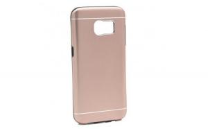 Husa Samsung Galaxy S6 Edge Plus Motomo V2 Roz-Auriu