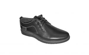Pantofi casual din piele naturala negri si albastrii 39, 40, 41, 42, 43, 44