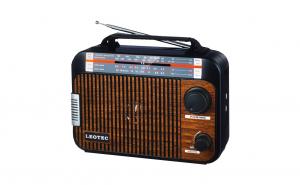 Radio Leotec Q3 cu 4 benzi radio AM/FM/SW1/SW2, alimentare 220v si baterii