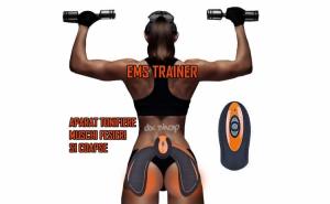 Aparat EMS Hip Trainer, tonifiere muschi fesieri, electrostimulare, modelare, masaj anticelulitic