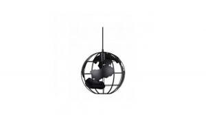 Lustra tip pendul model glob pamantesc, diametru 30 cm, negru