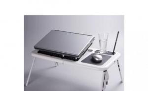 Masa laptop cu 2 coolere + suport pahar + mousepad.