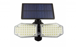 Lampa solara dubla LED cu senzor