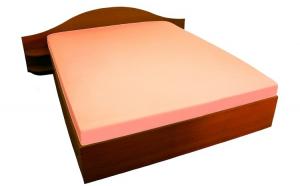 Cearceaf cu elastic 100x200 Versoft Orange