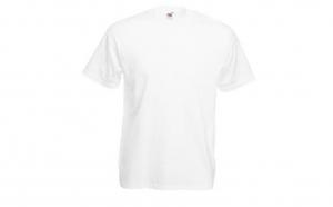 Tricou FRUIT OF THE LOOM White, la 12 RON