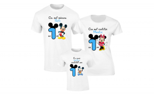 Set de tricouri albe pentru Parinti fericiti de baiat S122