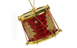 Set de ornamente de Craciun Tobe Rosu